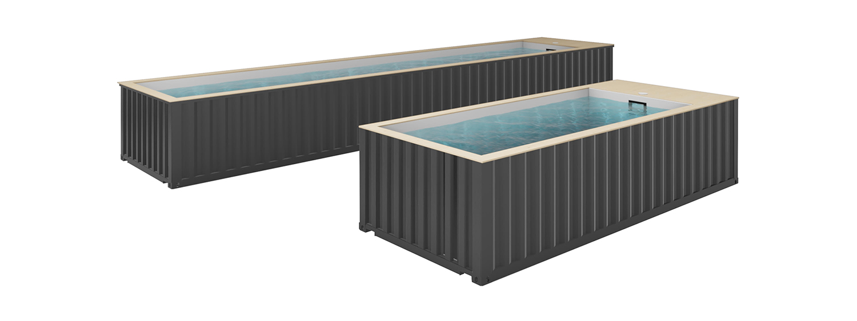 Les conteneurs maritimes transformés en piscines par KASEO